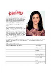 English Worksheets: Katy Perry