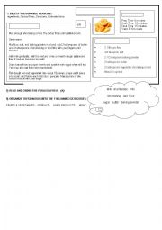 English Worksheets: recipie