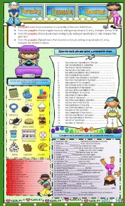English Worksheets: FORMING POSSESSIVES