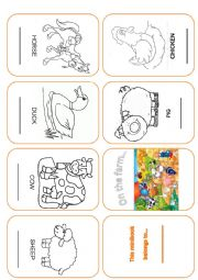 English Worksheets: Minibook about farm animals