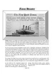 English Worksheet: Titanic Disaster
