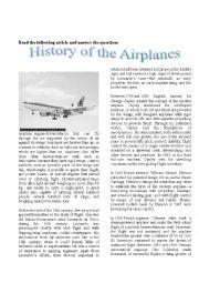 English Worksheets: Plane