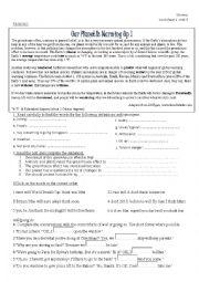 English Worksheet: Unit 5 new headway intermediate 4th edition