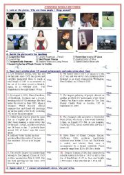 English Worksheets: Unusual Achievements (Guinness World Records)