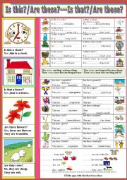 English Worksheet: Demonstratives: Is this /Is that/Are these/Are those?
