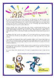 English worksheet: London Olympics are around the corner!!!