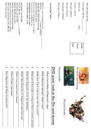 English Worksheet: tangled booklet - part 3/4