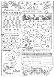 English Worksheet: My ABC