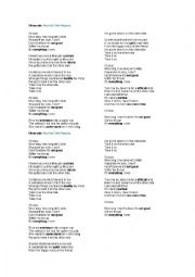 English Worksheet: Otherside by Red Hot Chili Peppers