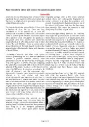 English Worksheets: Asteroids