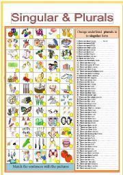 English Worksheet: Singular and Plural