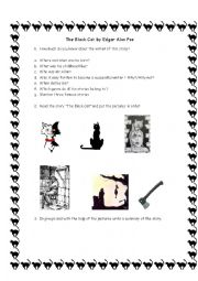 English Worksheet: The Black Cat by Edgar Alan Poe