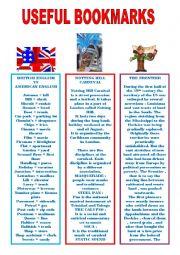 English Worksheets: useful bookmarks