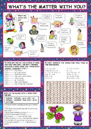 English Worksheet: ILLNESSES