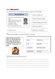 English Worksheets: Personal info
