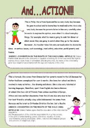 English Worksheets: AND...ACTION!!!