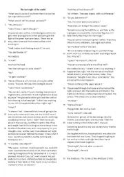English Worksheets: The last night of the world