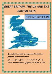 English Worksheet: Great Britain, the UK and the British Isles