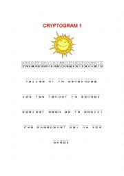 English Worksheet 2 Summer Cryptograms
