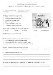 English Worksheet: Video Activity - Mamma Mia