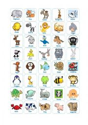 English Worksheet: Animal Bingo (Teacher�s Cards)