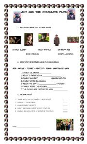 English Worksheets: Charly and the chocolate factory