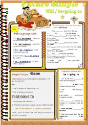 A Series of grammar worksheets. - Future Simple