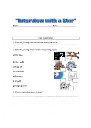 English Worksheets: Interview with the stars