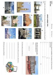 English Worksheets: travelbook3 : London guided tour
