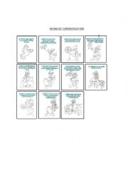 English Worksheet: Means of Communication with colouring