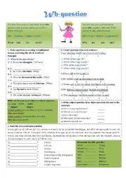 English Worksheets: Wh- Question
