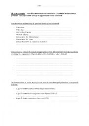 English Worksheets: Sequence h�tellerie