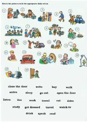 English Worksheet: Vocabulary - Daily Actions