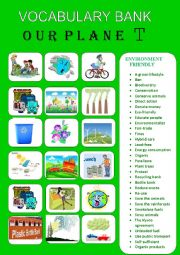 OUR PLANET- VOCABULARY BANK 2