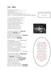 English Worksheets: Snuff - Slipknot