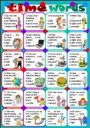 Time Words Worksheets including time order words worksheet