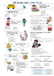 English Worksheet: 8th Grades Units 12/13 *Personality Adjectives/Prefixes