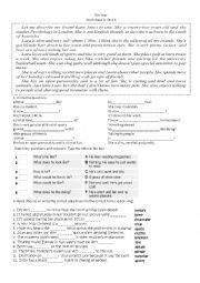 English Worksheet: Unit 6 new headway intermediate 4th edition
