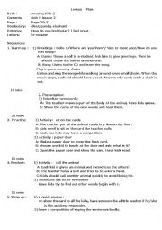 lesson plan of some animals: deer, panda, elephant