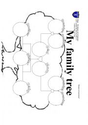 simple family trees worksheet