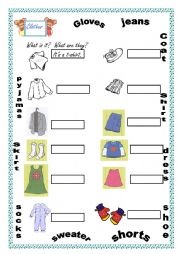 Clothes Exercise For Kids Esl Worksheet By Sanndry