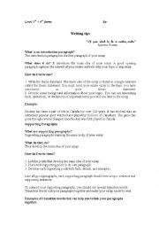 English Worksheets: writing tips