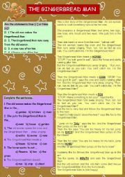 The Gingerbread Man (STORY+ TASKS)