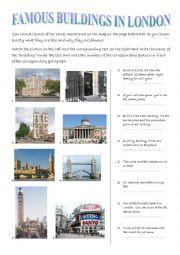 English Worksheet: famous buildings in London