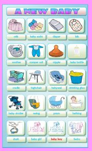 English Worksheets: A New Baby
