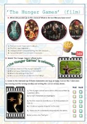 English Worksheet: �The Hunger Games� film