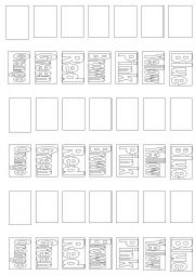English Worksheets: Colors Memory Game