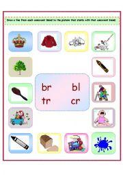 Consonant Blends: br/bl/tr/cr