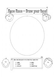 English Worksheets: Face Race - Draw your face!