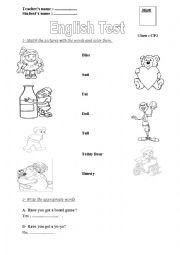 English Worksheet: C2
